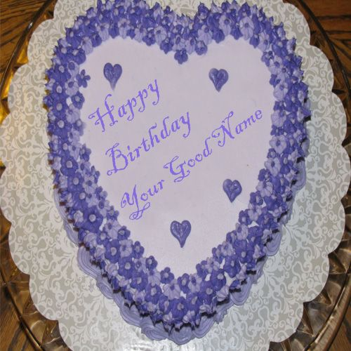 Birthday cake for love name wishes heart shape online image create