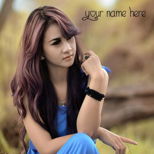 Awesome Beautiful Girl In Blue Dress Name Pictures - Name Girl Profile