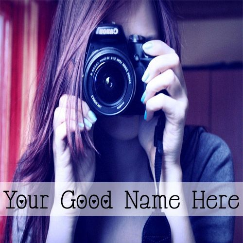 Awesome Cute Camera Girls DP Name Pictures - Cool Name Pix