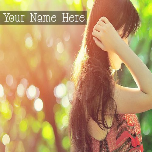 Beautiful Hair Looking For Girls DP Name Pictures - Girls Name Pics