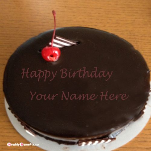 Chocolate birthday cake with name picture creator online free