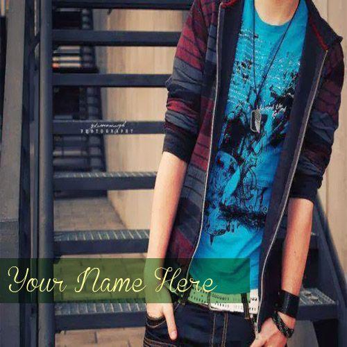 Latest cool stylish boy whatsapp profile photo with name writing dp