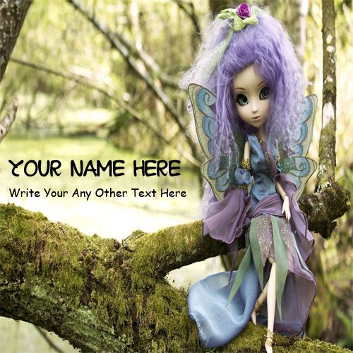 Beautiful Purple Doll Awesome DP Name Pictures - Cute Barbie Doll