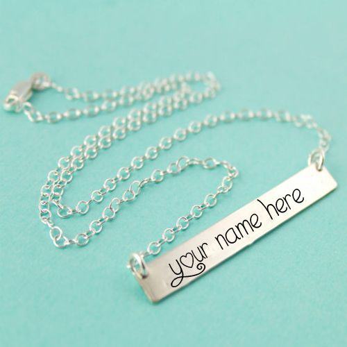 Silver beautiful chain with pendant my name profile pictures