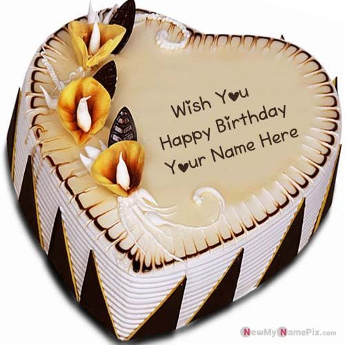 Fabulous Decorated Sweet Heart Shape Birthday Cake Name Pictures Name Funny Birthday Cards Online Alyptdamsfinfo