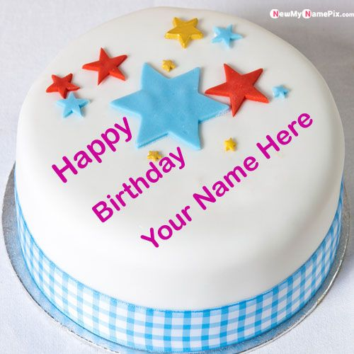 Detail large stars happy birthday dp name wishes pictures - name birthday cake