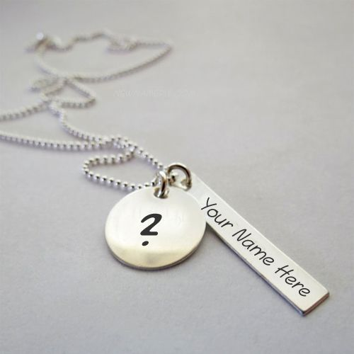 Write your name on stylish necklace profile picture free download