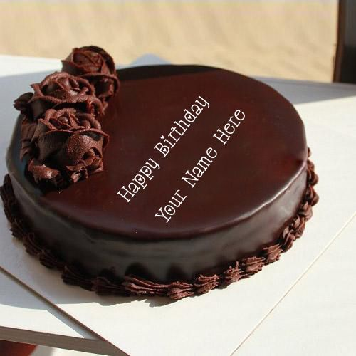 Girl birthday wish chocolate rose cake name pictures edit online