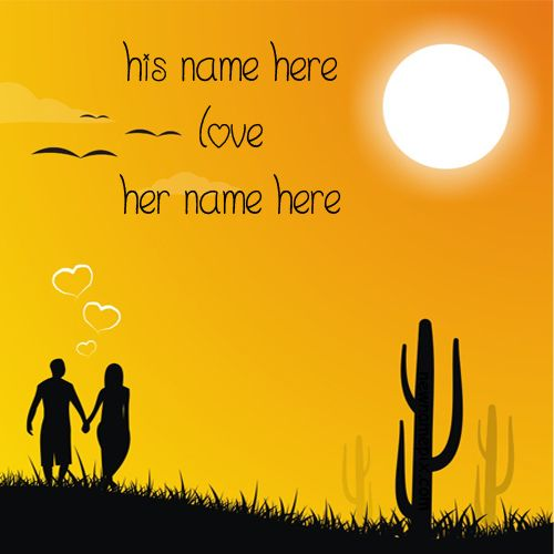 Always Together In Love Romantic Couple Name Pictures - Name Love Pics