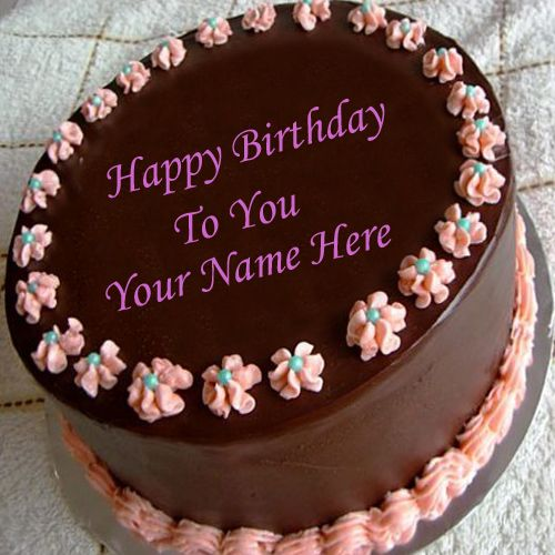 Happy birthday wishes chocolate cake with name pictures - name birthday pic