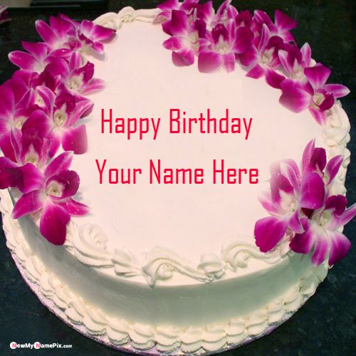 Happy birthday wishes cake with red rose pictures my name create