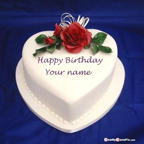 Heart ice cream birthday cake on your name pix - birthday with name