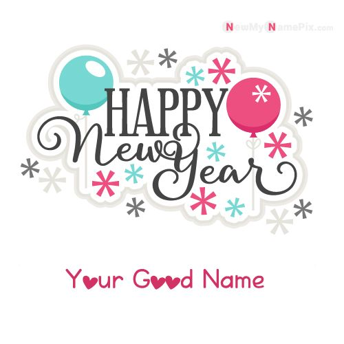 Happy New Year 2020 With Star On Write Your Name - Create Name Photo
