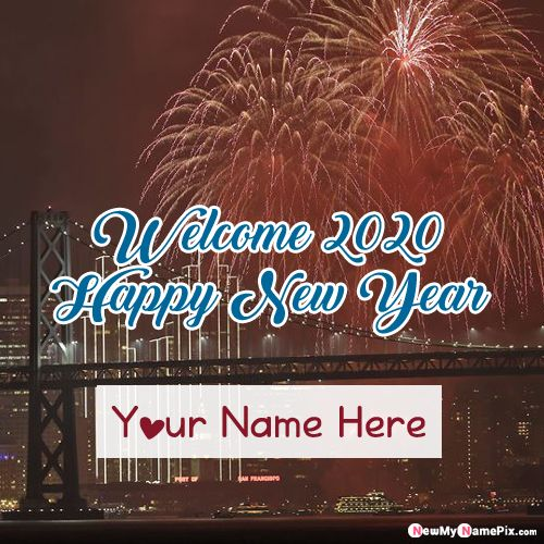 Write Name on Happy New Year 2020 Pictures - My Name Pix Create