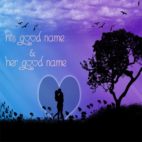 Real Love Romantic Couple Kiss Name Pictures - Love Name Pics