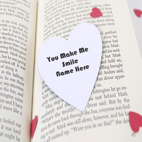 You Make Me Smile Love Quotes Name Picture - Create Love Pic