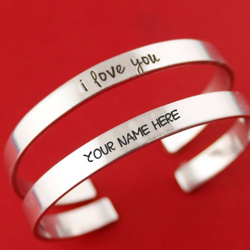 Love you hand bracelet for girl name writing pictures create