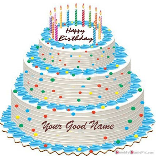 Happy Birthday Big Layer Cake With Name Wishes Pictures