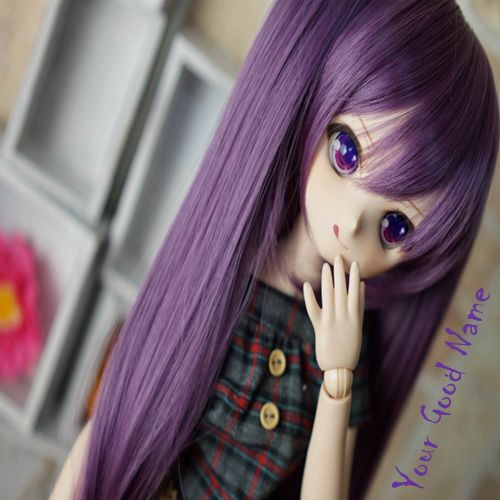 Beautiful Cute Barbie Dolls With Name Profile Pic - Create Name DP