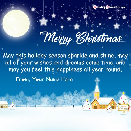 Write Name On Merry Christmas Greeting Card Free Create - Online Name Wishes