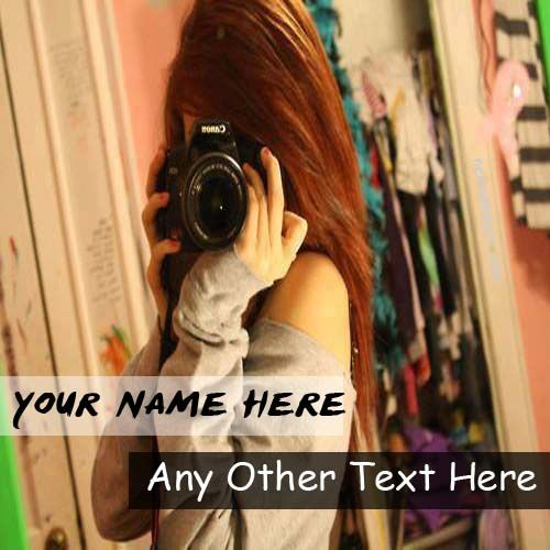 Camera Cool Girl DP With Name Profile Pictures - Create Profile Pix