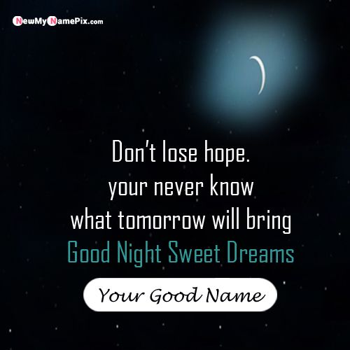 Good night wishes moon quotes nice name pictures create online card