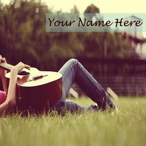 Cool Girl With Guitar Nice DP Name Pictures - Name Profile Girl
