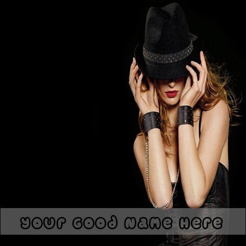Crazy Stylish Fashionable Girls DP With Name - Photo Create Free