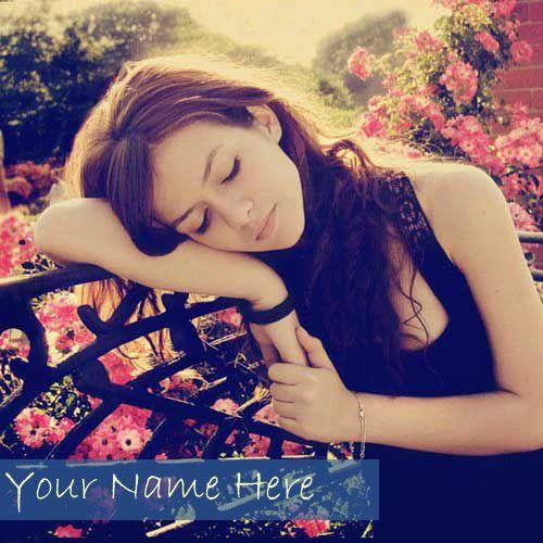 Cute Stylish Girl Cool DP With Name - Create Name Profile