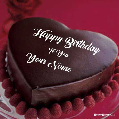 Miraculous Heart Shaped Birthday Wish Chocolate Cake Name Pictures Name Funny Birthday Cards Online Alyptdamsfinfo