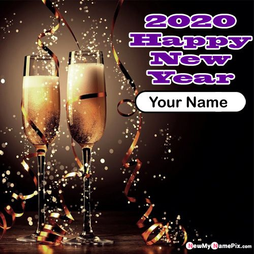 2020 New Year Celebration Image With Name - Create Name Card