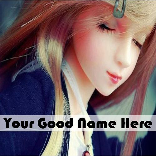 Write Your Name On Lovely Cute Doll DP Profile Pictures