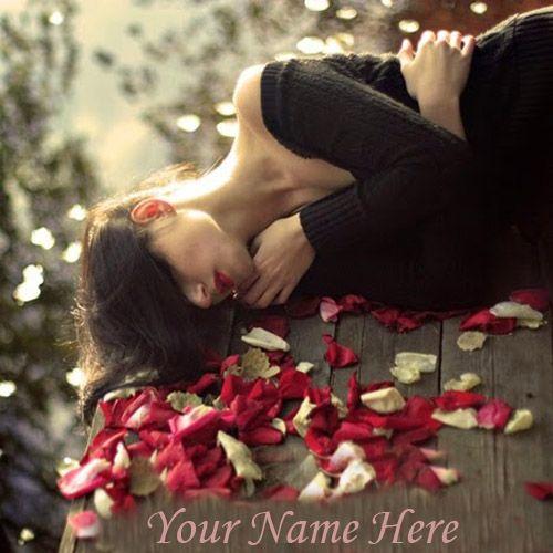 Latest Alone Sad Girl Nice DP Name Profile Picture - Create Name Pics