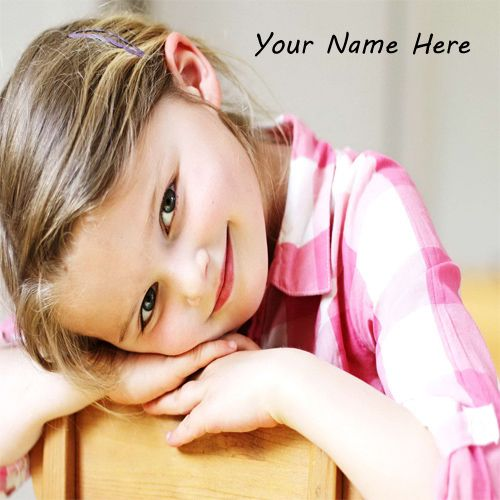 Little Cute Girl Beautiful Smile With Name Picture - Name Profile Girl