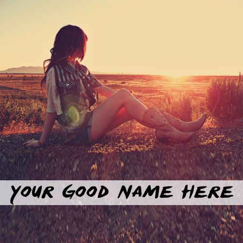 Awesome Alone Girl Sunlight DP Name Pictures - My Name Pix