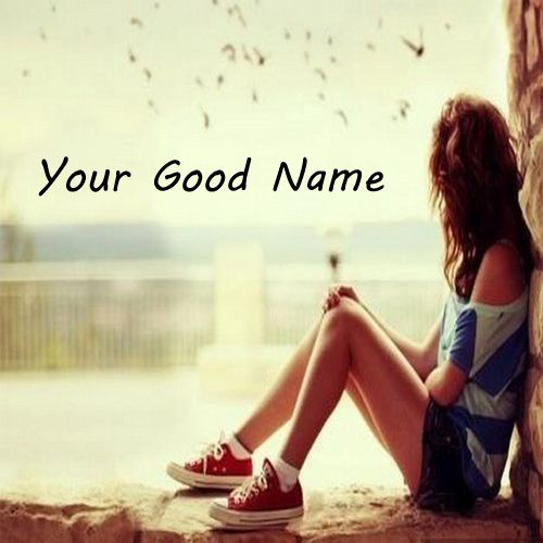 Sad Alone Girl Waiting Someone Window - My Name Pix