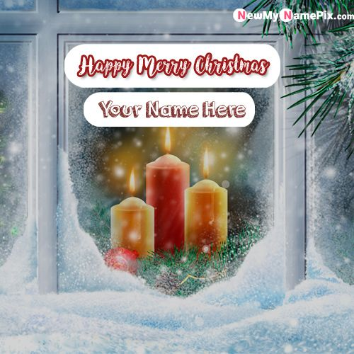 Christmas Eve Wishes Images With Name - Create Card Online