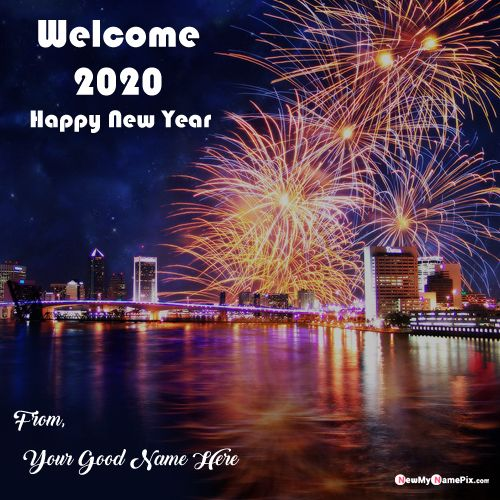 Happy New Year Eve Amazing Fireworks Pictures On Name Wishes