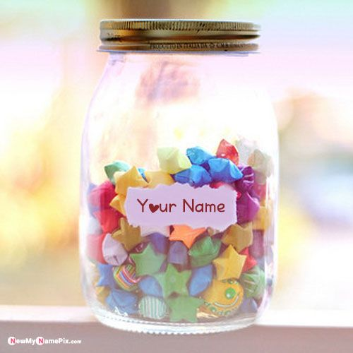 Wish Jar With Notes Letter With Name Picture - New My Name Pix