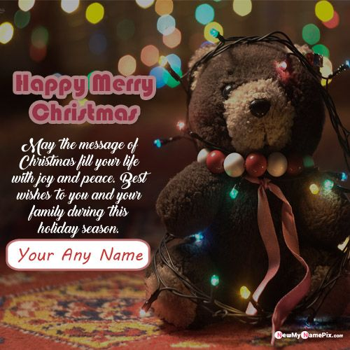 Create Name Writing Christmas Greeting Card Online Free