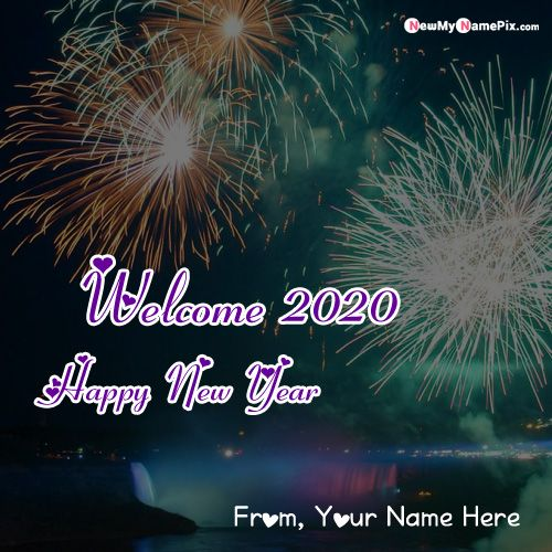 Welcome 2020 New Year Unique Image With Name - Online Create Card