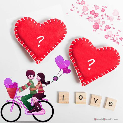 Tons of heart couple alphabet name dp create online image free