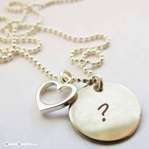 Round pendant necklace on first letter name profile pictures