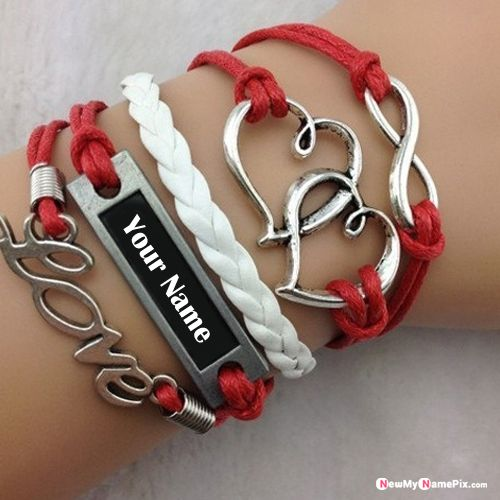 Love hand bracelet for boys name picture creator tools