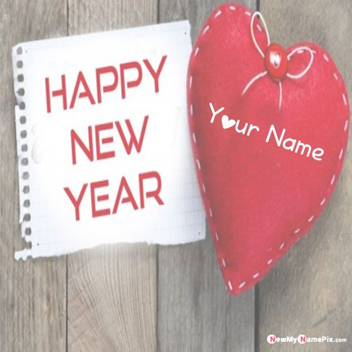 Write Name On Romantic Happy New Year 2020 Love Heart Pictures