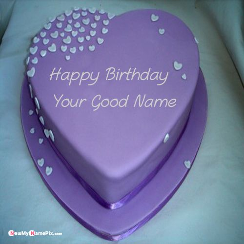 Beautiful happy birthday cake with name print image download free