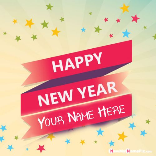 Happy New Year 2020 Wishes Image With Name