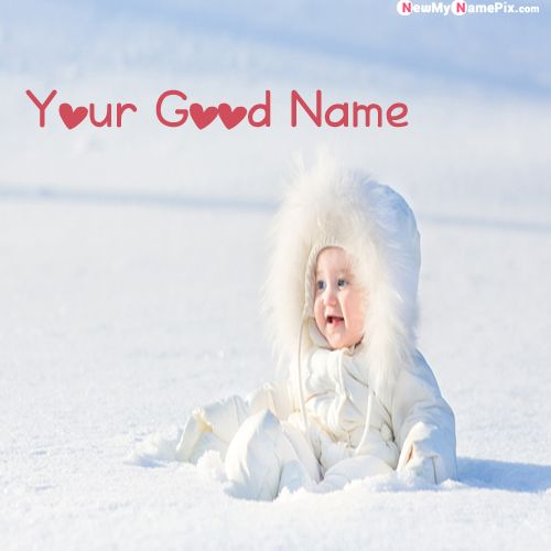 Ice Winter Joy Beautiful Cute Boy Name Pictures - My Name Pix