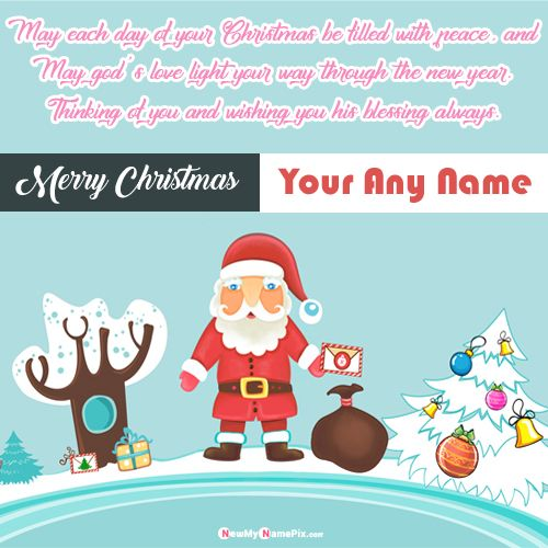 Online Name Write Merry Christmas Wishes Quotes Pictures Create Free Card