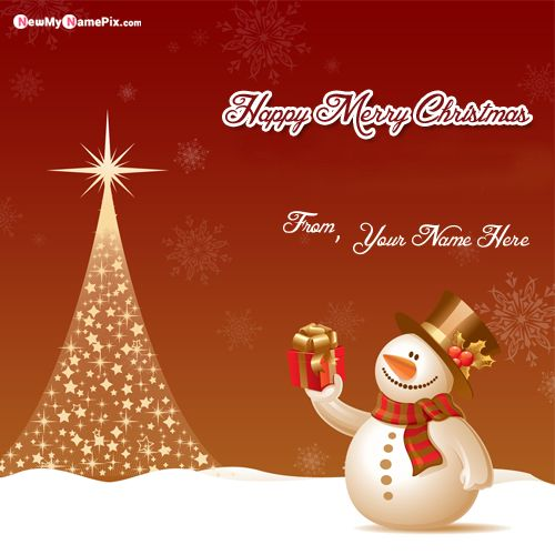 Personal Name Wishes Christmas Unique Pictures Free Create